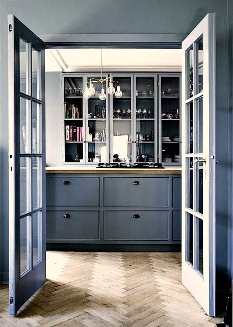 Design Trends 2015 :: Kitchens #bluegreykitchens