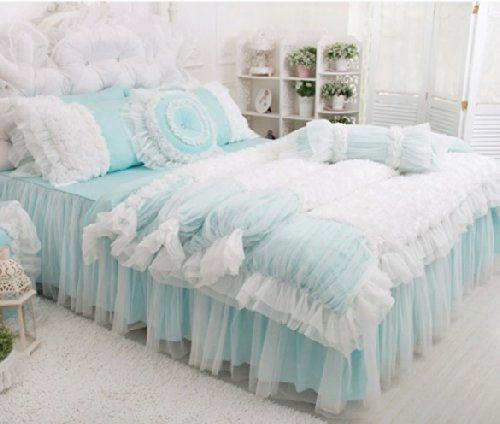 Fadfay Home Textile Beautiful Korean Rose Bedding Sets Luxury