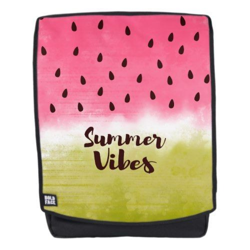 Refreshing fruity pattern with trendy summer motto backpack