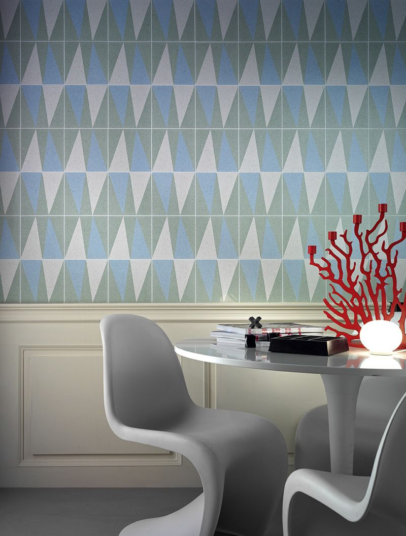molded fiberglass chairs & Mipa tile wall | CHAIRS, have a seat ...