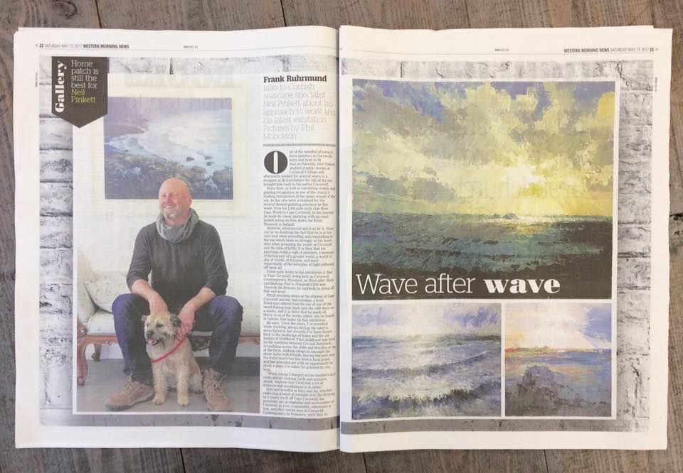 "Western Morning News article for ""A Year at Cape Cornwall"" by Neil Pinkett."