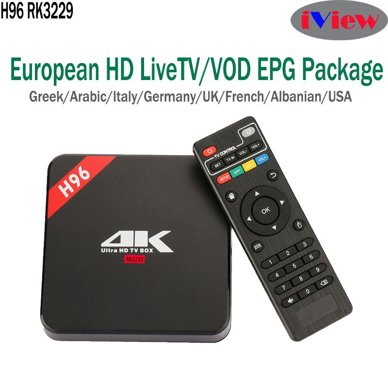 H96 Android TV Box+ Iview HD European Sports Football Match