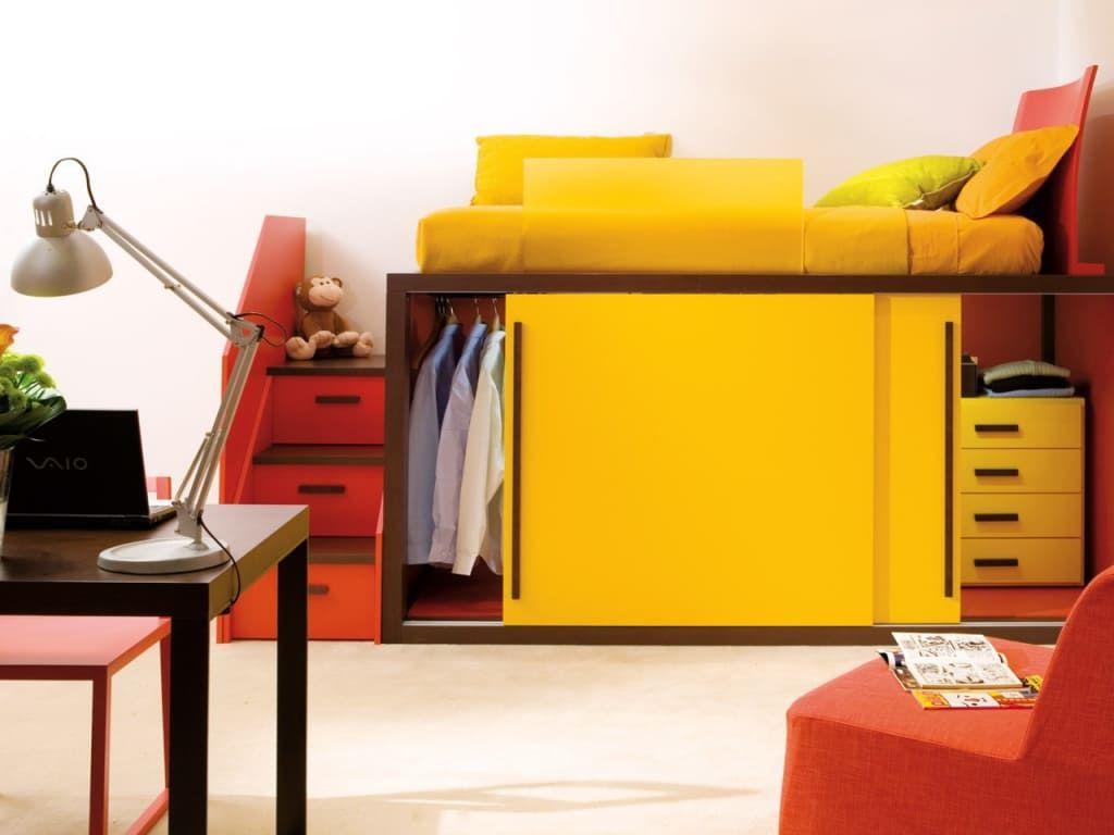 Moderne Kinderzimmer Bilder: Hochbett mit Kleiderschrank von ...