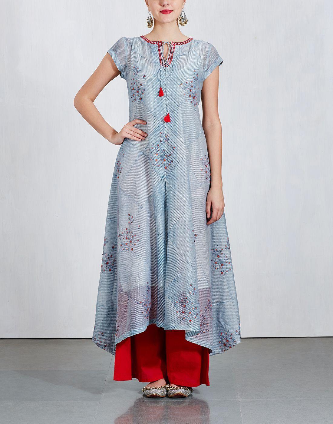 de53ca5935 Printed Floral Kurta With Palazzo | Things to wear | Kurta palazzo ...