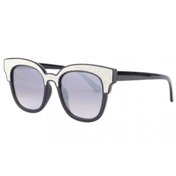 d9c63d408e03dc Lunettes de soleil strass femme noir classe Tsaryne de marque Soleyl,  lunette de soleil papillon