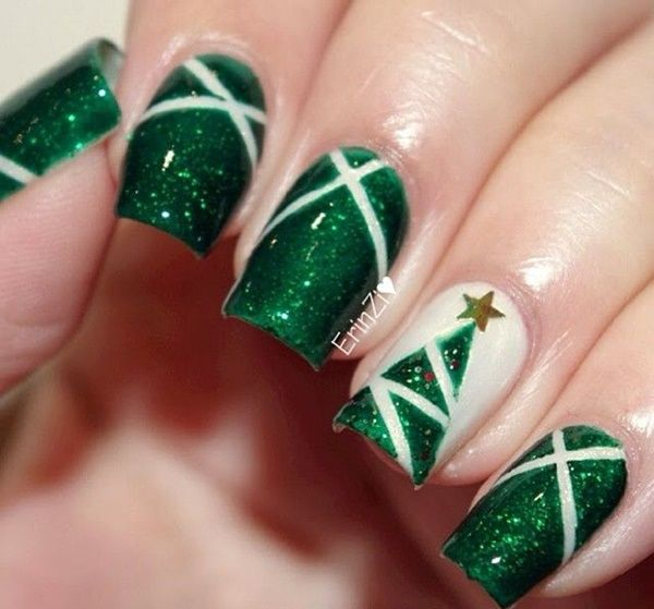 45 Beautiful Christmas Nails Art Designs 2016