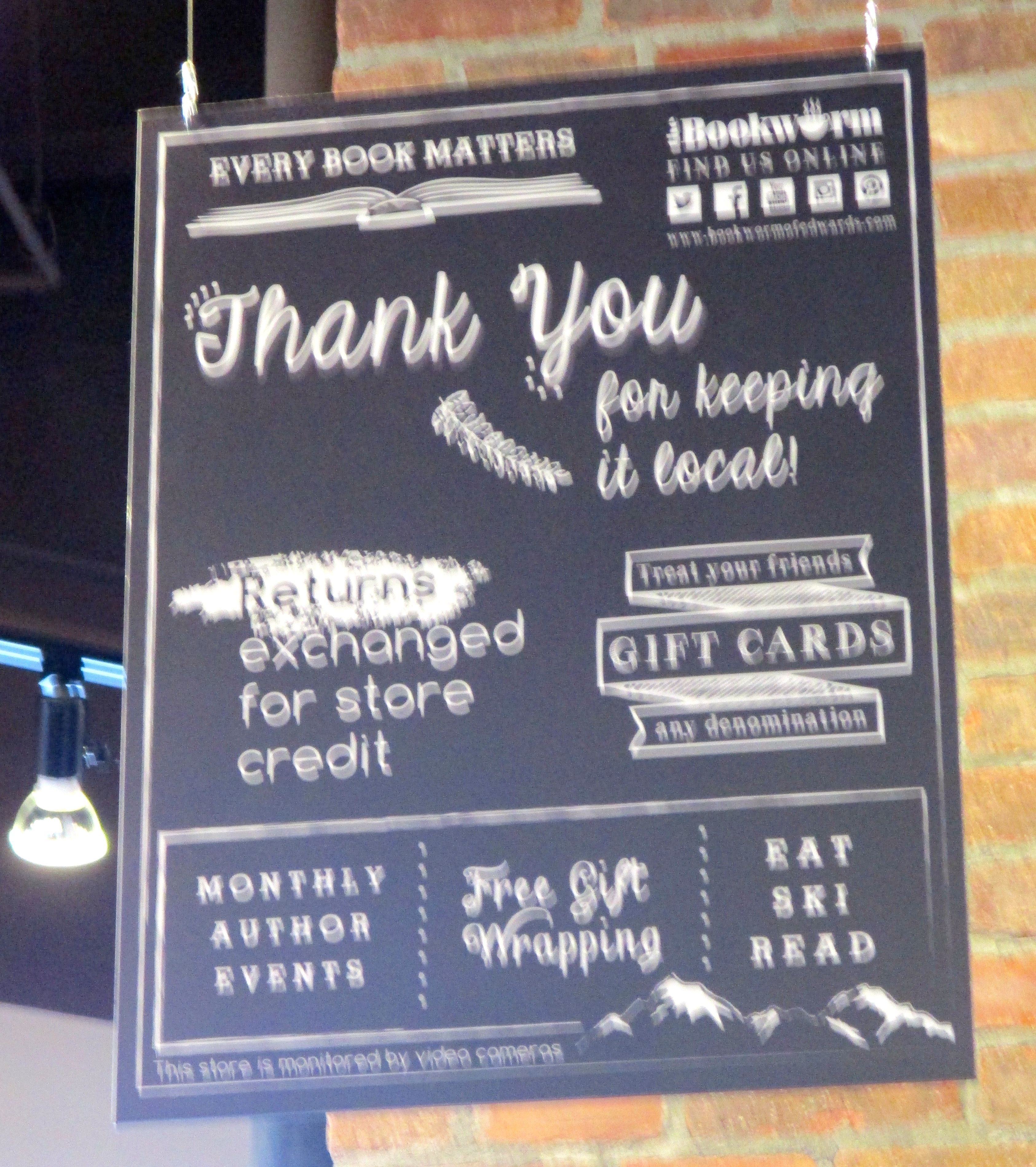 Gratitude is the primary message for customers ... a reminder that shopping local matters.