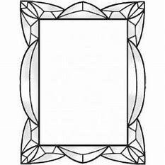 Image Result For Stained Glass Pattern Border Espejos Arte En Vidrio Espejos Para Banos