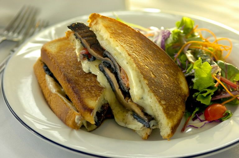 OregonGrilled. Portabella, Boursin and Provolone Grilled Cheese..Yes Please!