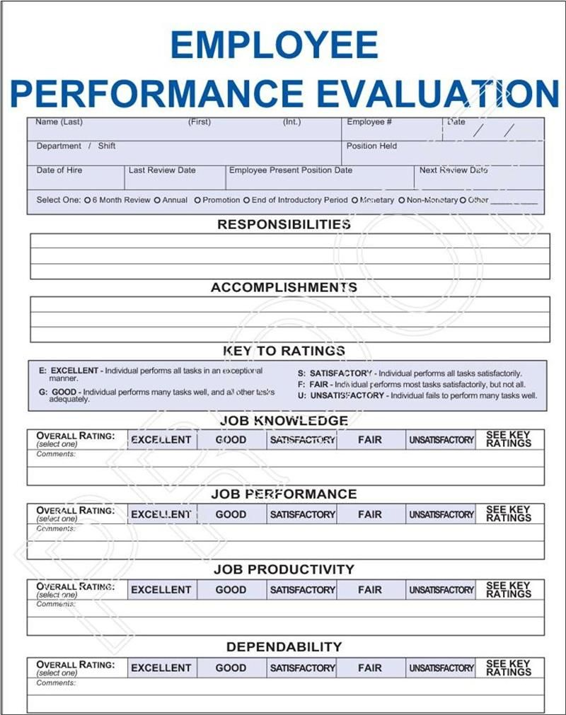 Job performance evaluation images frompo 1 survey for Evaluation templates for employees