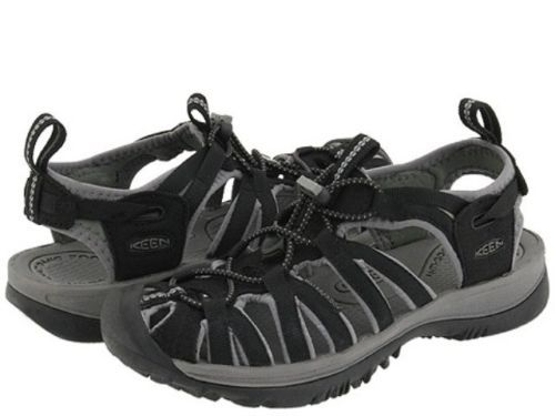 2dd6a335ad2a Keen Whisper Black Gargoyle Women s Sandals 1003481 BNIB