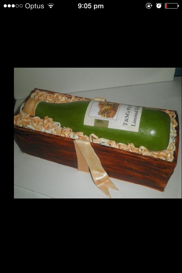 Wine bottle and cask cake
