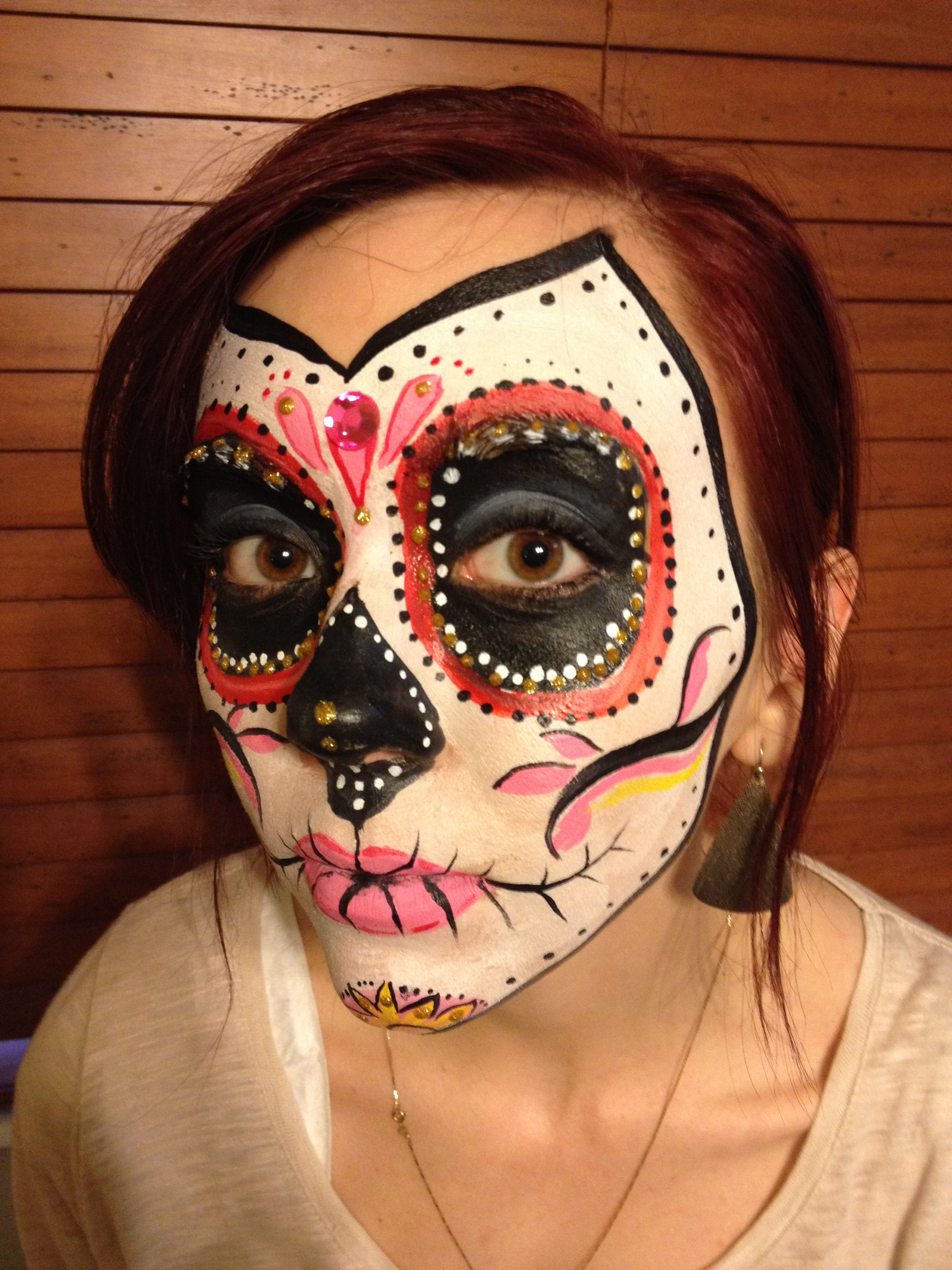 Candy Skull - Face Painting by Jennifer VanDyke.