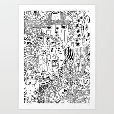 Bear-faced Liar Art Print by John M. Brady - $16.00