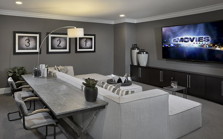 Turn the upstairs bonus room into your own private media for 10x15 room design