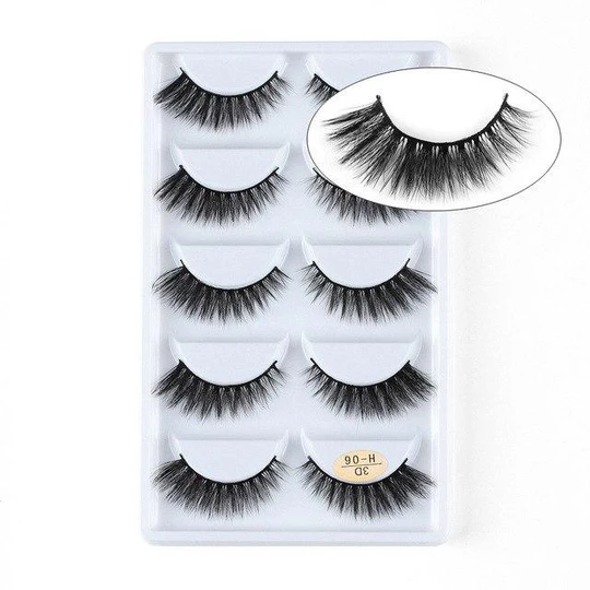 Handmade Cross Wispy 3D Mink Hair Extension Tools Natural Long False Eyelashes