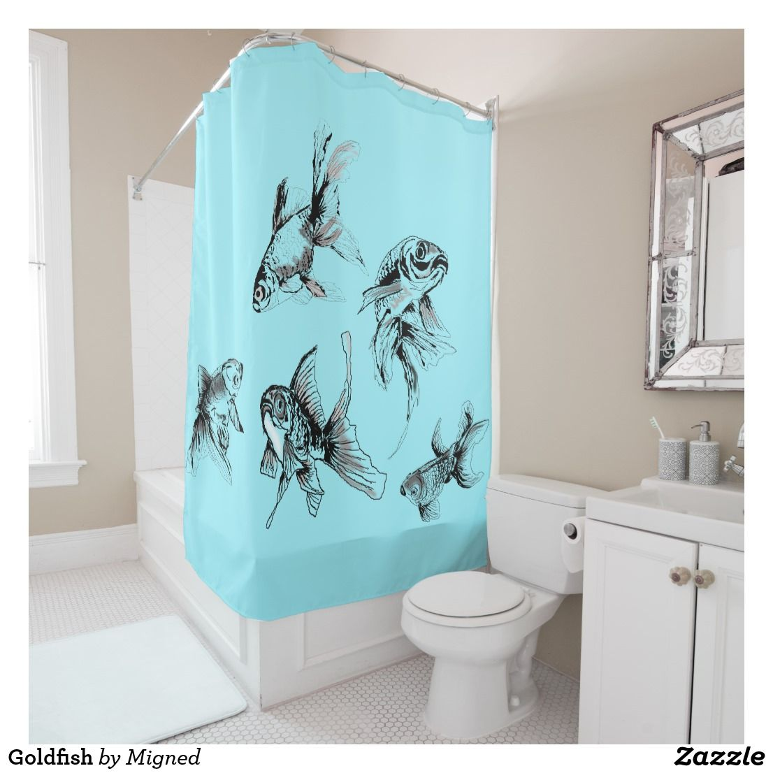 Goldfish Shower Curtain Zazzle Com Met Afbeeldingen