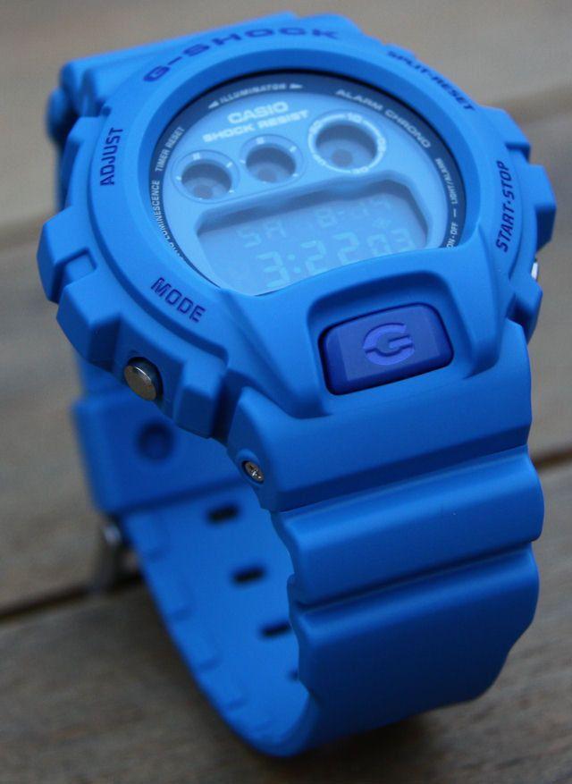 8ec453e226fb1 RARE NEW CASIO G SHOCK DW-6900MM-2 ALL BLUE DW-6900 CRAZY COLORS  Casio