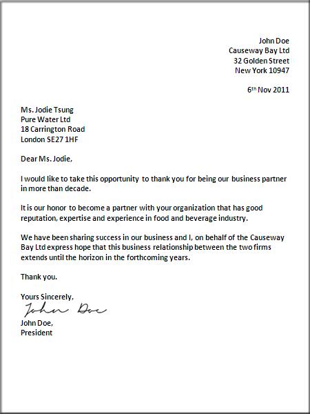 Letter Writing Format Business Letter Format Letter Writing Format Formal Business Letter Format