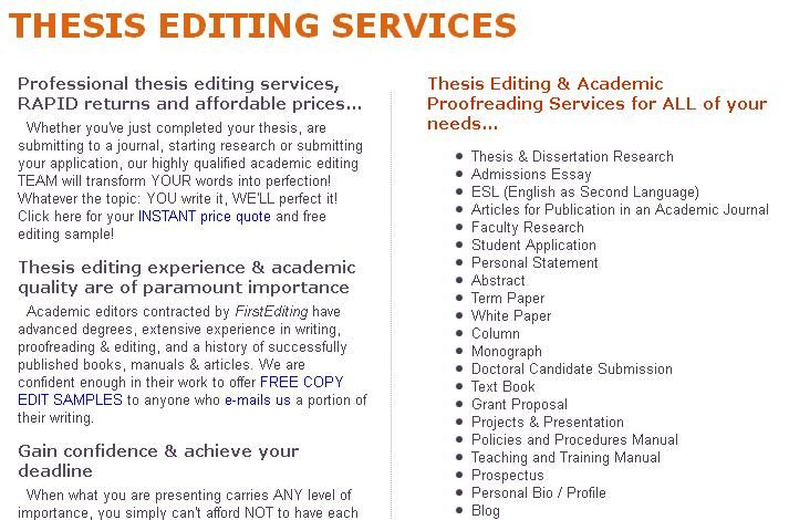 Professional editing services for your manuscript, book, thesis - sample training manual