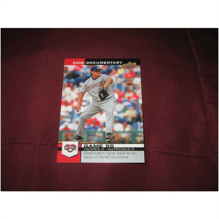 NATIONALS : 2008 UD DOCUMENTARY GAME 55 #WAS55 ** 10 CENT ...