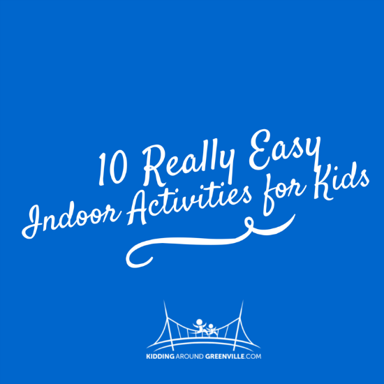 This list includes easy indoor activities for kids that require minimal supplies and no electricity (perfect for snow days!)
