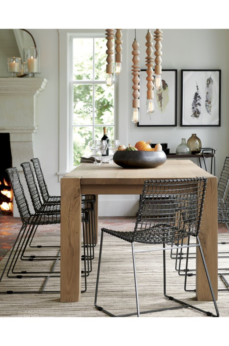 Tig Metal Dining Chair  Crate And Barrel  Suzanne  Pinterest Simple Dining Room Chairs Online Inspiration