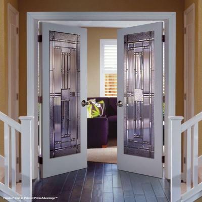 Feather River Doors 24 In X 80 In 1 Lite Preston Zinc Smooth Primed Mdf Interior Door Slab Pm15012068z280 Doors Interior Interior Doors For Sale Double Doors Interior