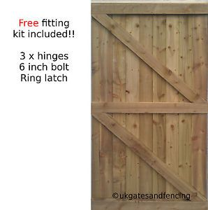 7ft High Wooden Garden Side Gate Featheredge Gate Wooden Gate Heavy Duty Wooden Gates Wooden Garden Gate Wrought Iron Driveway Gates