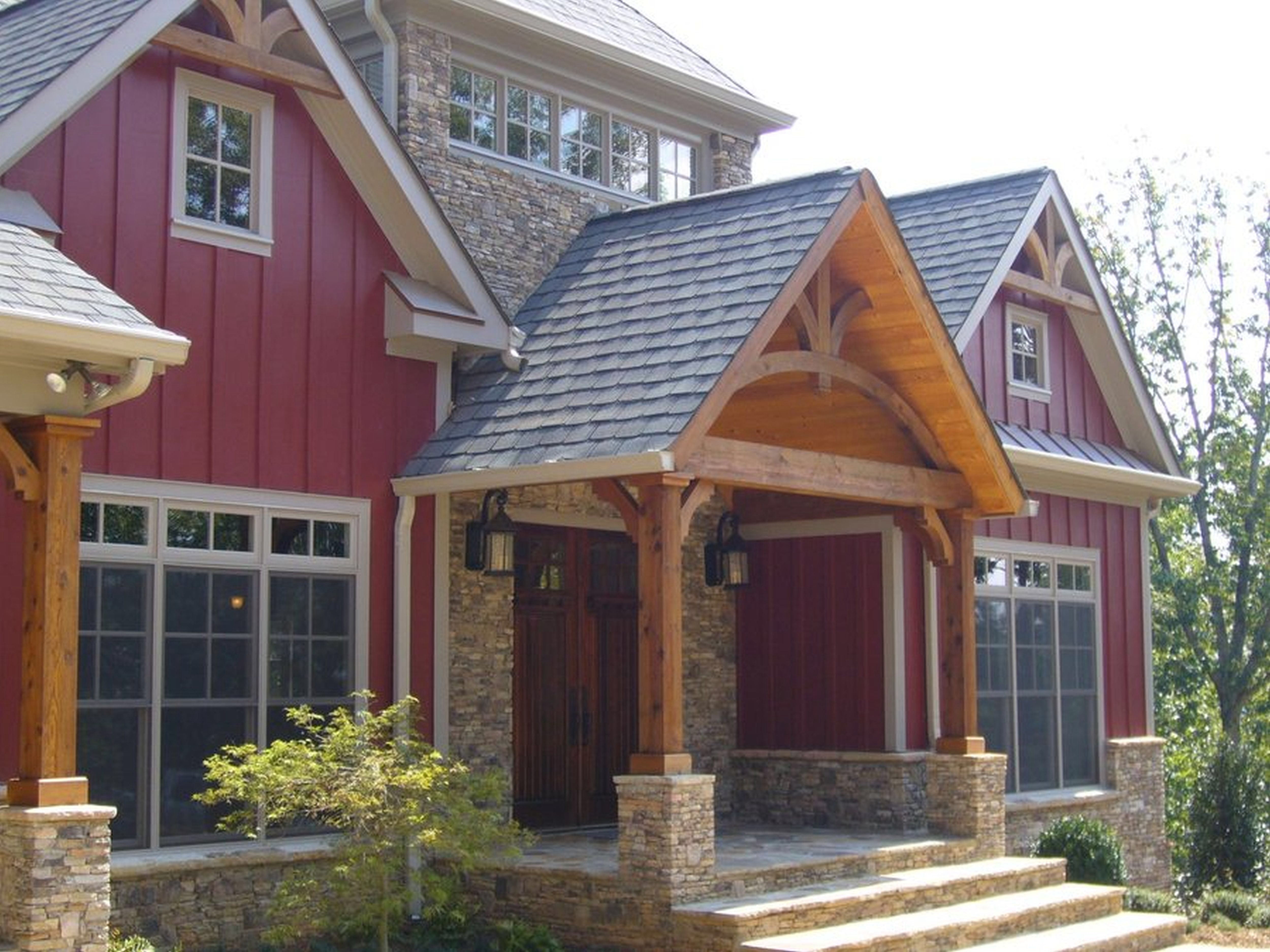 Casper Country House Plan Love The Red Barn Wood