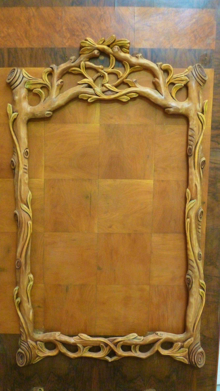 Grande Cornice da specchio in legno stile naturalistico