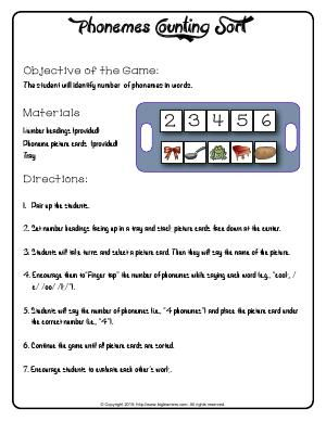Map Of Asia Worksheet Pdf Worksheet  Phonemes Counting Sort  Objective Of The Game The  Phonic Worksheets For First Grade Excel with Preposition Of Place Worksheets Excel Worksheet  Phonemes Counting Sort  Objective Of The Game The Student  Will Identify Number Counting Money First Grade Worksheets Pdf