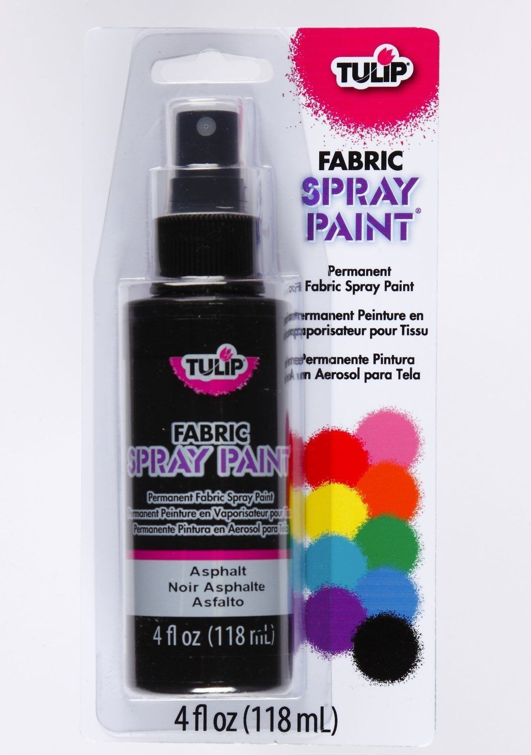 Shirt design and colour - Black Fabric Textile Spray Paint Tulip Upholstery Material T Shirt Design Craft
