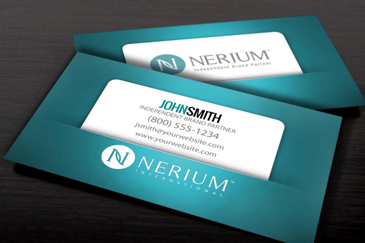 Nerium Brand Partners Check Out Our New Business Card Designs Just For You Mlm Nerium Print P Printing Business Cards Free Business Cards Business Cards
