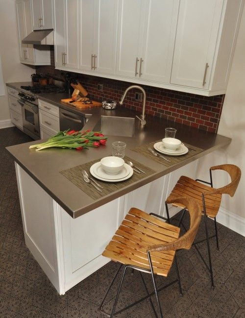 Love The Red Brick Veneer Wall And The Stainless Countertops Kitchen Design Small Kitchen Layout Kitchen Remodel Small