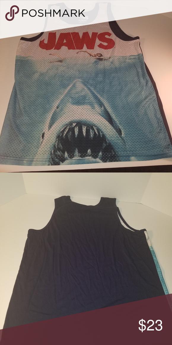 33211b04979989 jaws MEN S New Tank Top SLEEVELESS T-Shirt JAWS 2 3 4 movie GREAT White