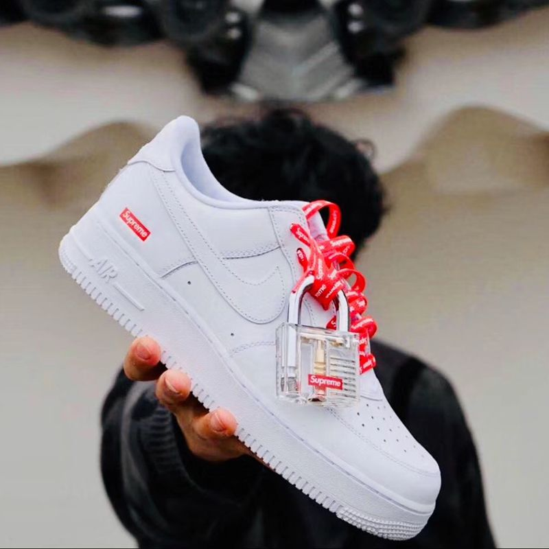 2020 Supreme X Nike Air Force 1 Low In White Cu9225 100 In 2020 Nike Air Force Nike Air Nike Shoes Air Force