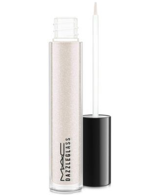 MAC Dazzleglass $17.00 Our scintillating glitter gloss that dazzles with light and shine is BACK! Bring an exciting dimensional pop to your lips with large particle pearls that reflect and refract light to mimic the brilliance of quartz and opal crystal. 16 shades provide exceptional shine with a crystalline iridescence. Non-sticky, non-tacky, lightweight and moisturizing. Features our signature M·A·C vanilla aroma.