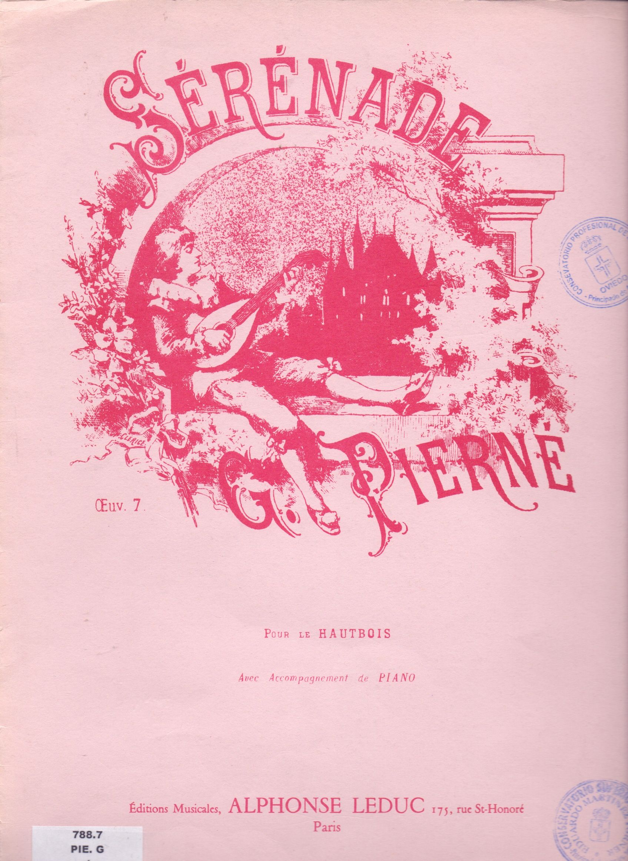 PIERNÉ, G. Sérénade para Oboe acompañado de Piano.