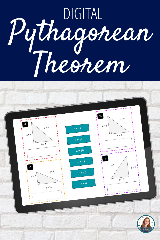 Pythagorean Theorem Matching Activity Digital Pythagorean Theorem Math Resources Middle School Math Resources [ 1500 x 1000 Pixel ]