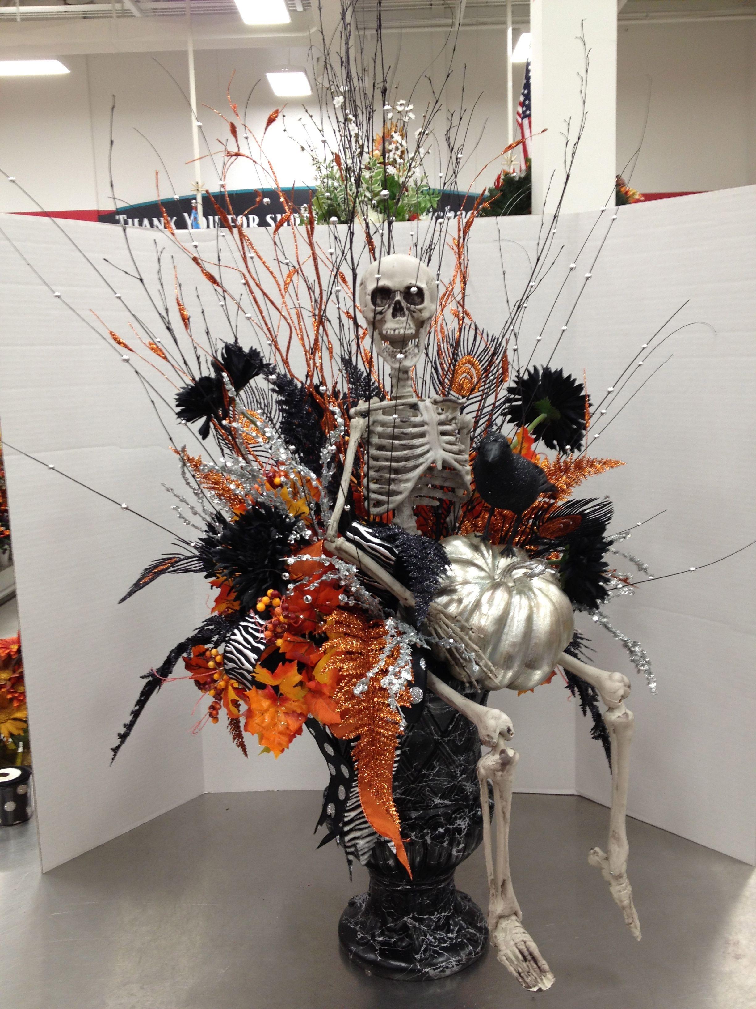 Halloween Urn Decorations Best Halloween Entry Way Urn 2012Christian Rebollo  My Floral Design Inspiration