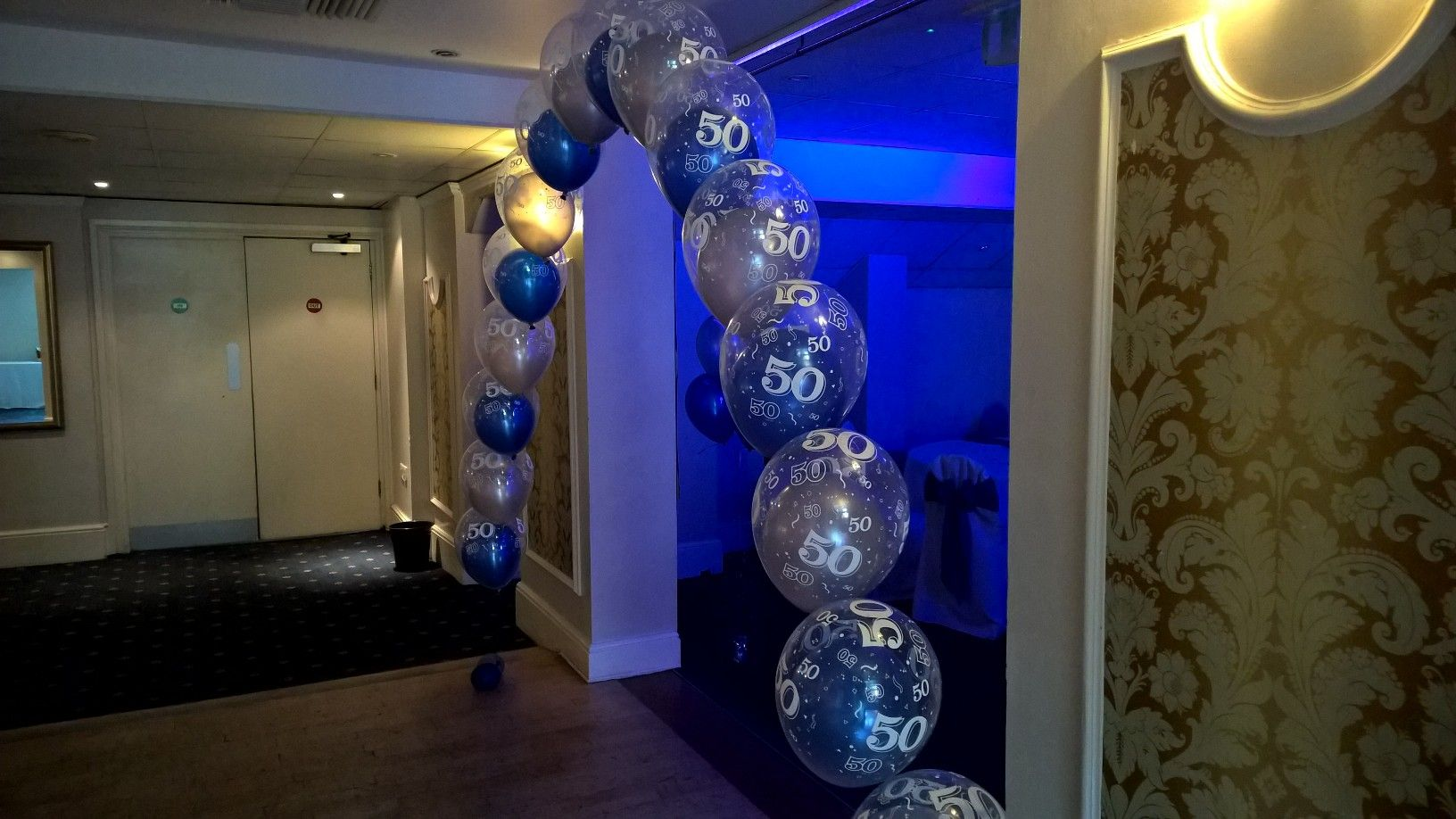 #Aged #50 #balloonarch by #dazzlingdecor