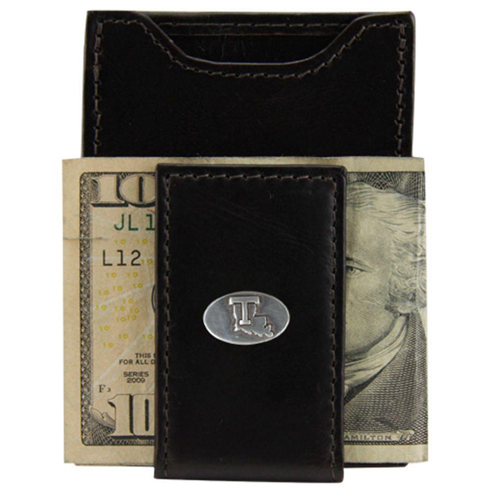 Louisiana Tech Bulldogs Crunch Leather Money Clip Brown