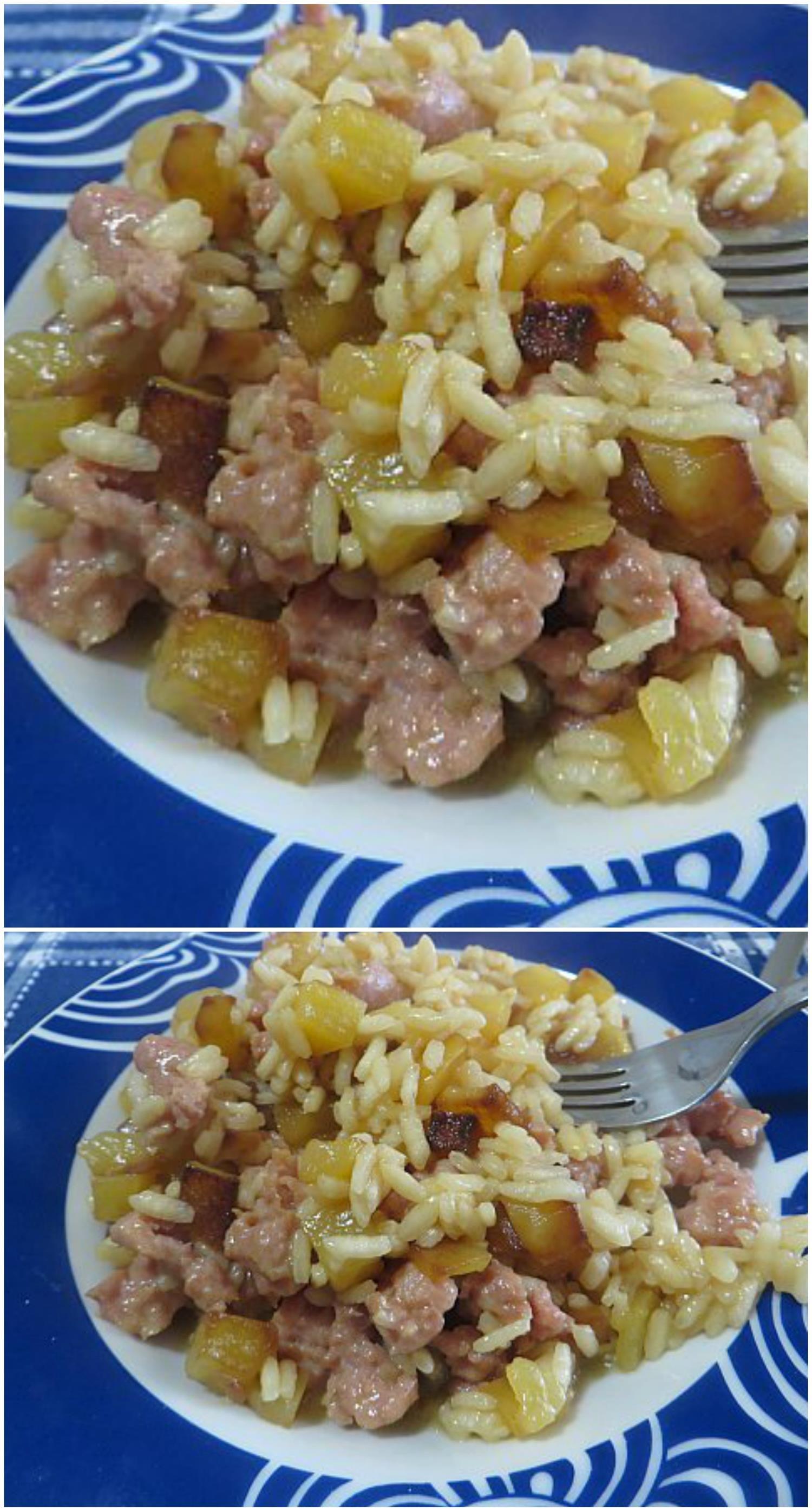 Riso con patate ricetta semplice