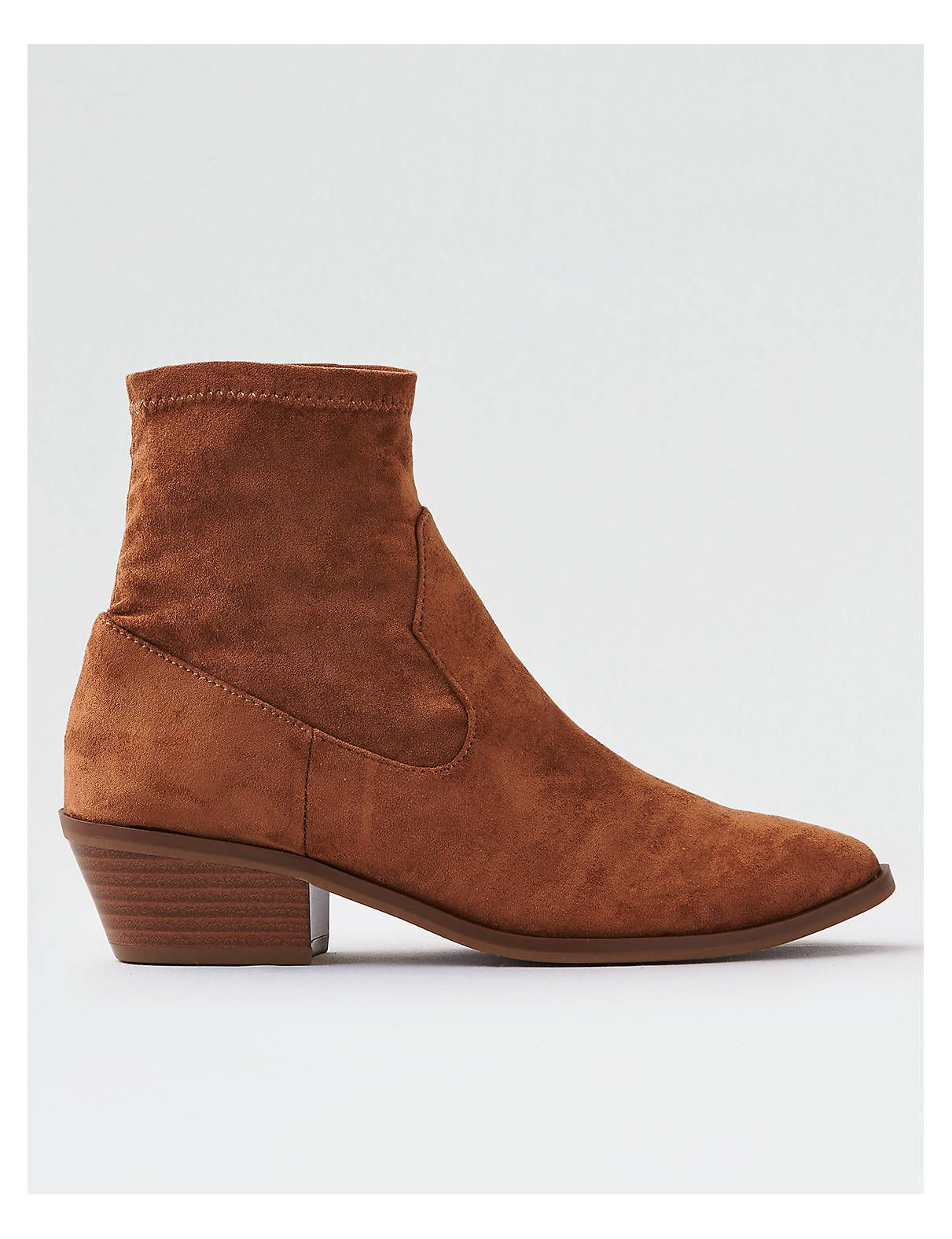 Aeo Sock Bootie Tan American Eagle Outfitters Shoes