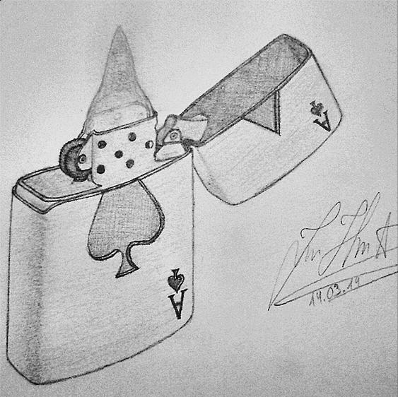 Zippo Lighter Pencil Drawing By Instagram Fan Ironmoon96 Zippo Art Little Doodles Drawings
