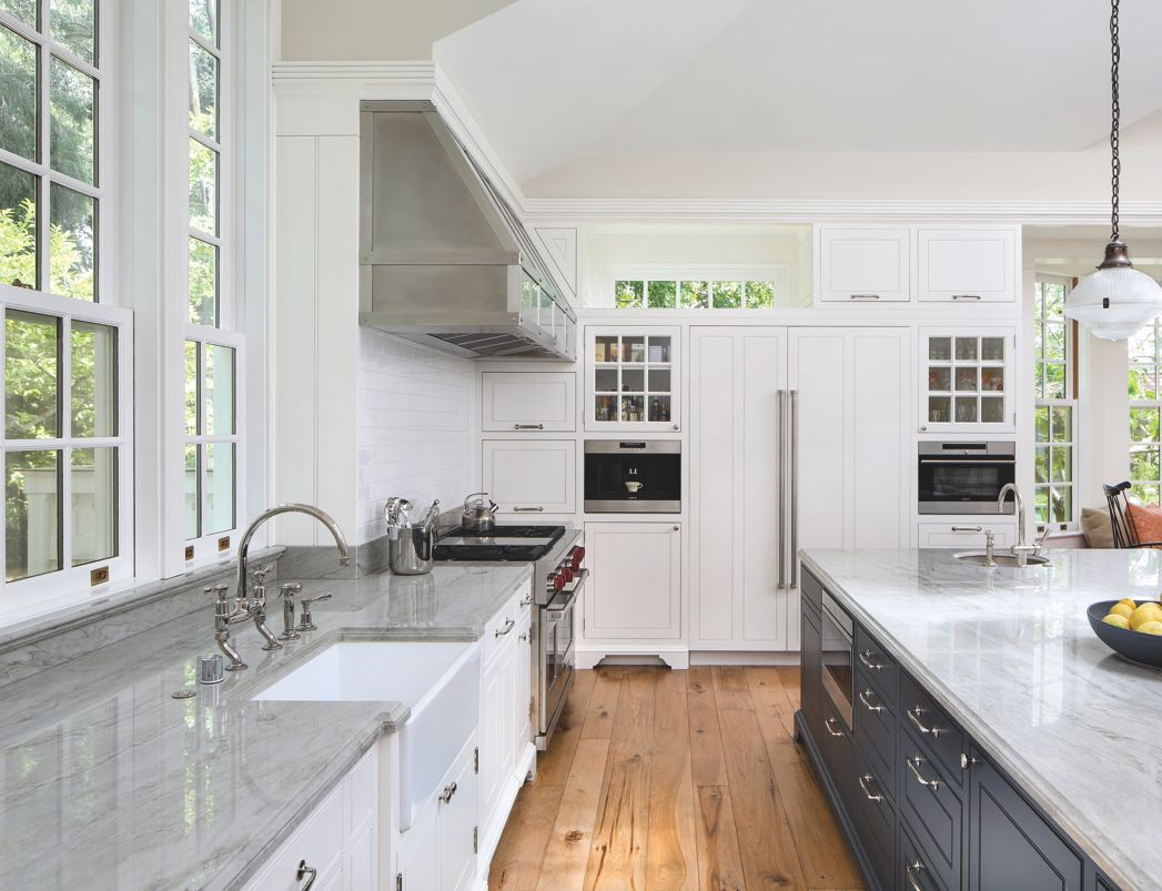 Elegant Classic Kitchen with Marble Countertop | Beautiful Things ...