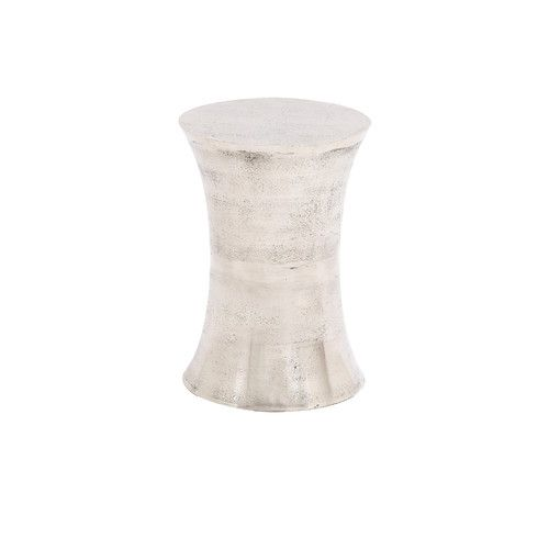We love the weathered finish of this aluminum stool for an outdoor seating area. | $125