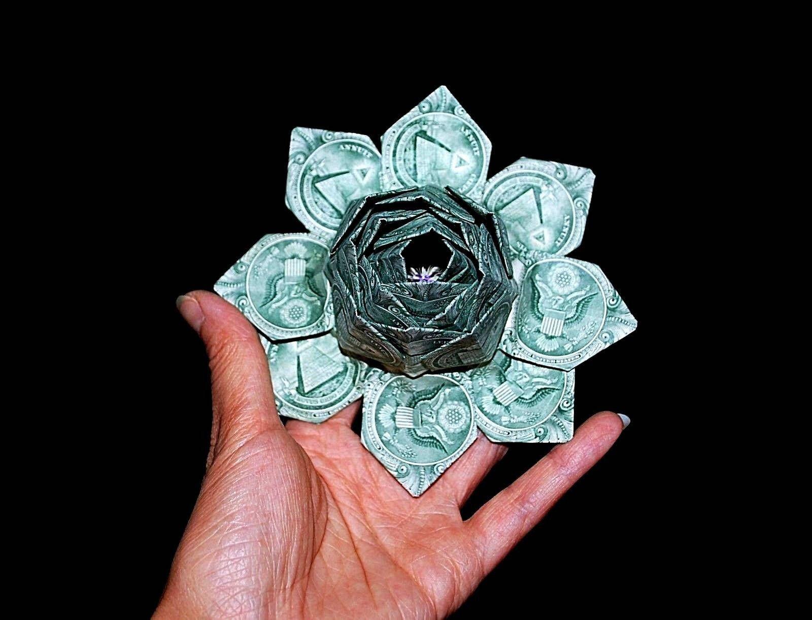 Money Flower Origami Lotus Money Lotus Dollar Flower Lotus