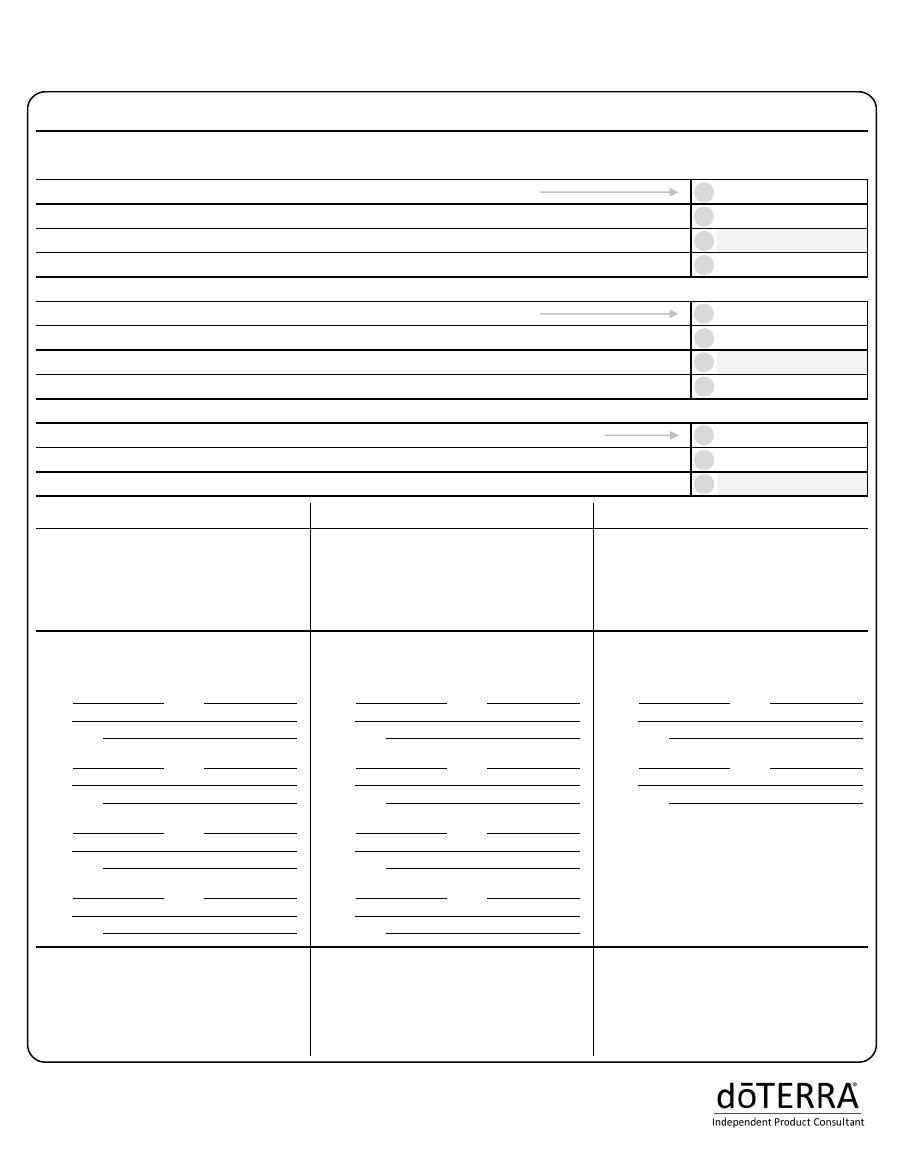 Premier Builder Worksheet | doTERRA biz | Worksheets ...